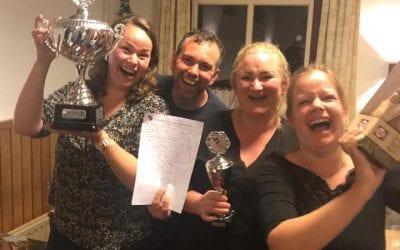 """Rodermarkt auto-oriënteringsrit 2018: Wederom vegetarische winnaars, na """"Ik lust geen worst"""", wint """"Wij ook niet""""."""