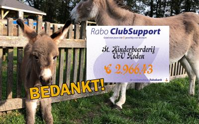 Volksvermaken Roden erg blij met bijdragen Rabo Clubsupport